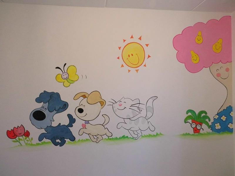 muurschildering babykamer woezel en pip ~ lactate for ., Deco ideeën