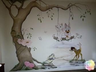 1_Muurschildering-poes-marie