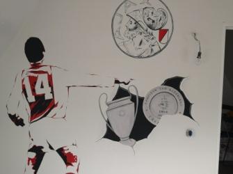 Muurschildering-Ajax