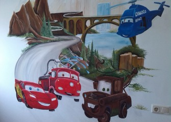 Muurschildering-Cars2