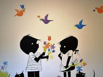 Muurschildering-JipJanneke