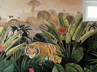 Muurschildering-Jungle