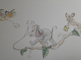 Muurschildering-Lion-King-Babykamer-3
