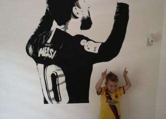 Muurschildering-Messi
