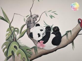 Muurschildering-Panda-Beertje