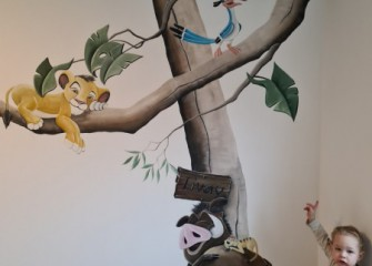 Muurschildering-Simba