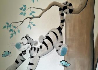 Muurschildering-Tijgertje