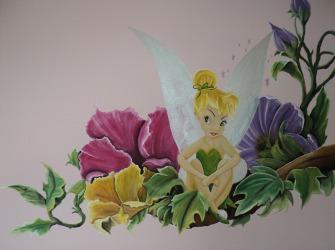 Muurschildering-Tinkerbel