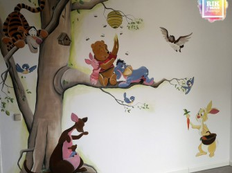 Muurschildering-Winnie-the-Pooh