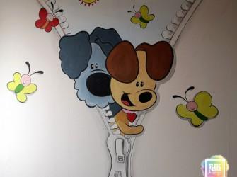 Muurschildering-Woezel-en-Pip