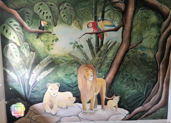 Muurschildering-jungle-