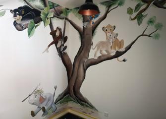 Muurschildering-jungle-book