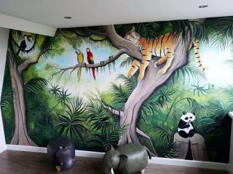 Muurschildering-jungle-kinderkamer-door-Rik-Muurschilderingen-e1602601519829