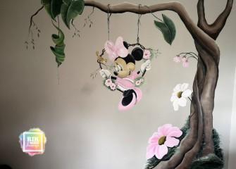 Muurschildering-minnie-mouse