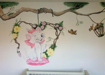 Muurschildering-poes-marie