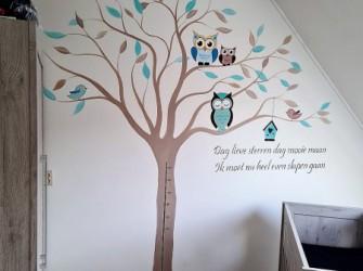 Muurschildering-uilenboom-2
