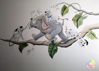 muurschildering-101-dalmatiers