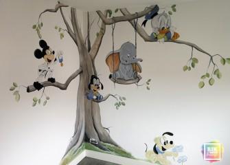 muurschildering-Disney