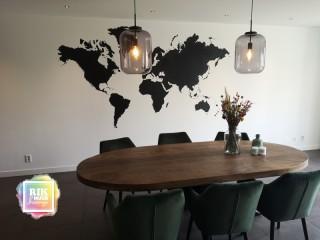 Muurschildering-Wereldkaart