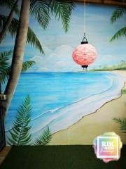 Muurschildering-tropisch-strand