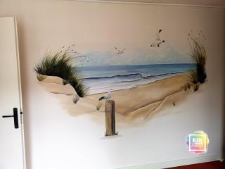 muurschildering-zee-strand-duinen