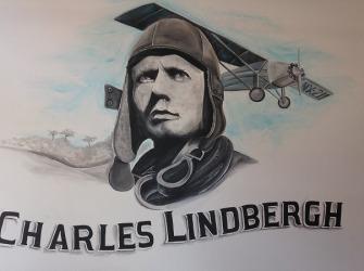 Muurschildering-Charles-Lindbergh-1
