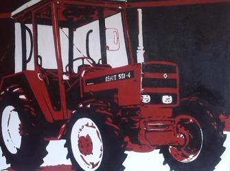 Rik-Muurschilderingen-Pop-Art-Tractor-Renault-551-4