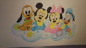 Babykamer inspiratie muurschildering