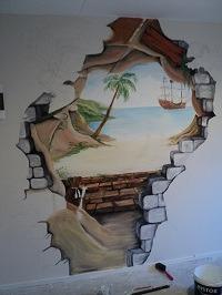 Muurschildering acrylverf