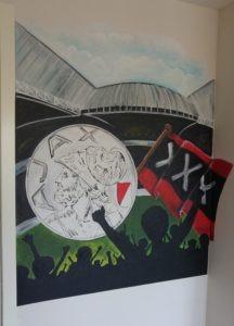 Muurschildering AJAX