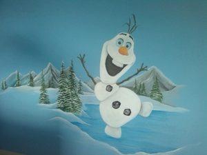 muurschildering Olaf