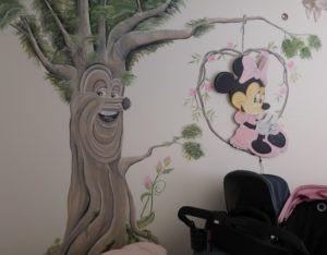 Muurschildering Sprookjesboom