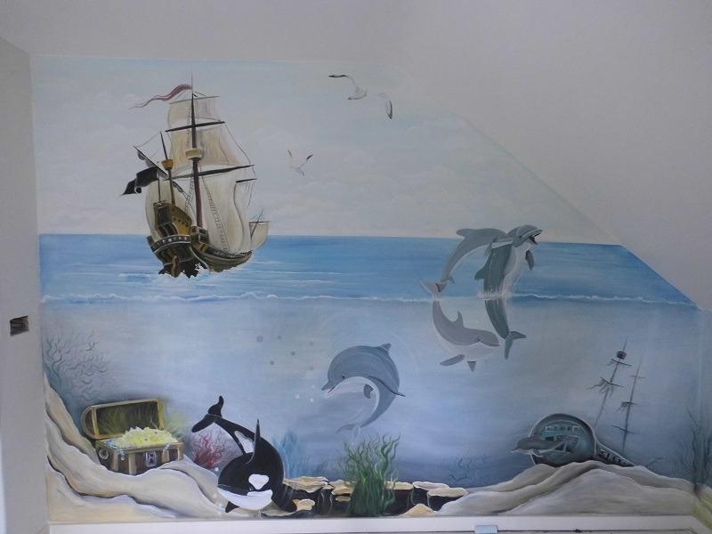 muurschildering rotterdam - geheel naar wens! | rik muurschilderingen, Deco ideeën