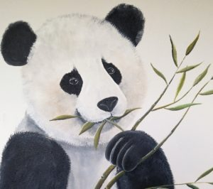 muurschildering Pandabeer