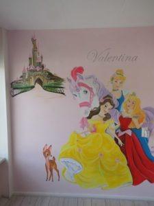muurschildering prinsessen