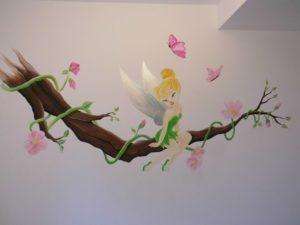 Muurschildering tinkerbell
