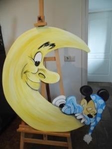 Paneel Mickey 3 van Rik Muurschilderingen