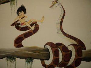 Slang muurschildering