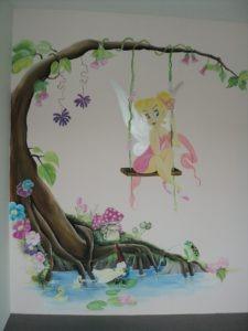 Muurschildering prinses