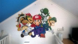 muurschildering super Mario
