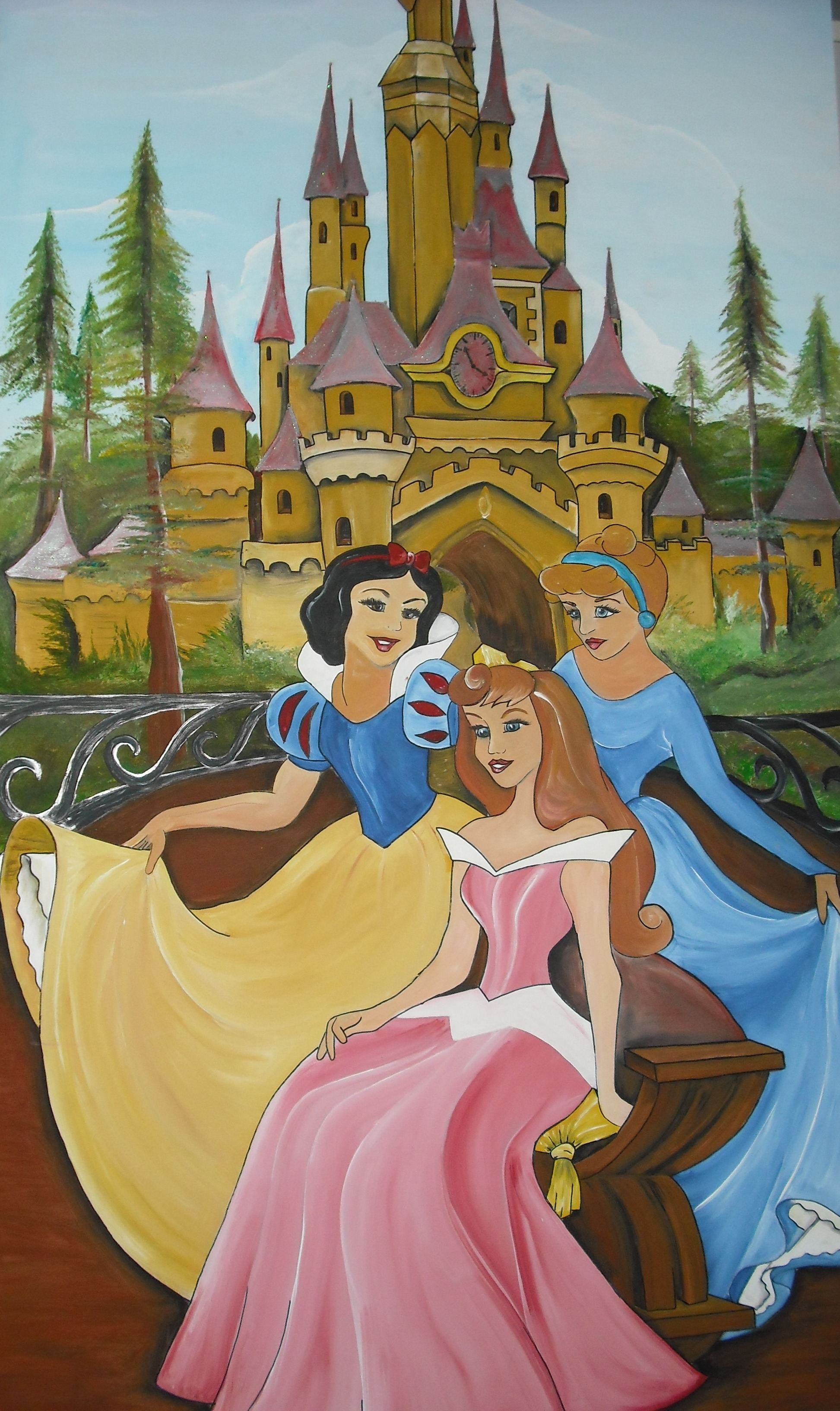 paneel prinsessenkasteel met lichtjes