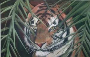 Tijger schilderij