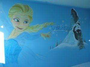 Muurschildering Frozen
