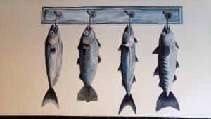 Muurschildering vissen