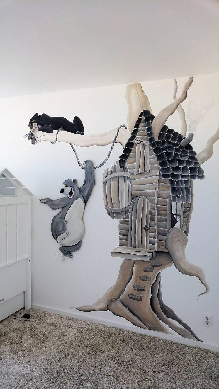 Sierlijke en strakke muurteksten rik muurschilderingen for Muurtekeningen woonkamer